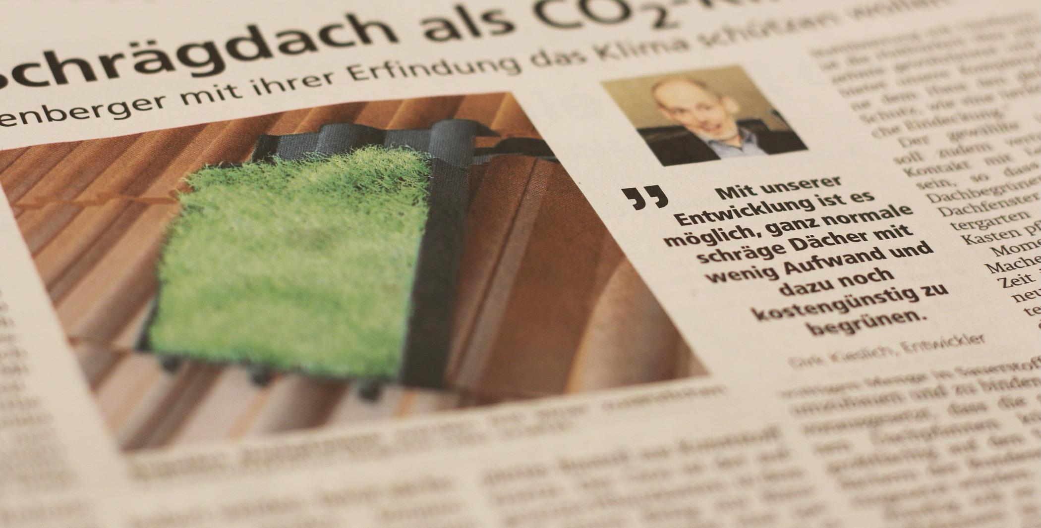Süderländer Tageblatt - Das Schrägdach als CO² -Killer Wie drei Plettenberger mit ihrer Erfindung das Klima schützen wollen