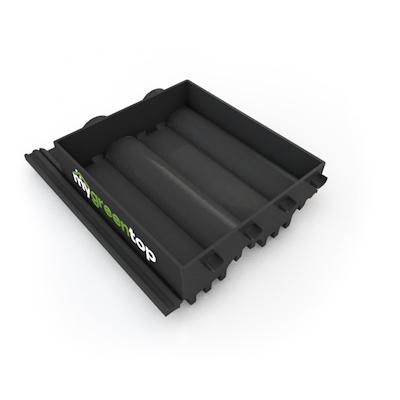 """Die Variante """"COMPLETE"""" ersetzt den vorhandenen Dachstein. Ihre 3D-Waben-Konstruktion macht sie enorm stabil."""