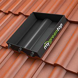 classic - einzelnd auf dem Dach